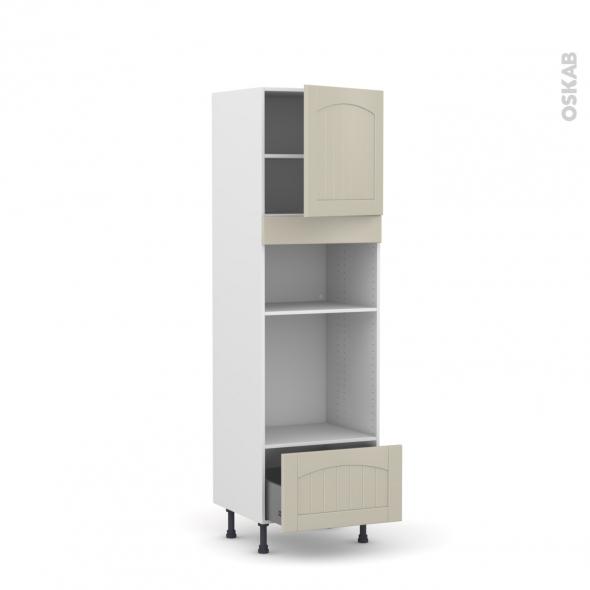 SILEN Argile - Colonne Four+MO 36/38 N°1610  - 1 porte 1 tiroir - L60xH195xP58 - droite