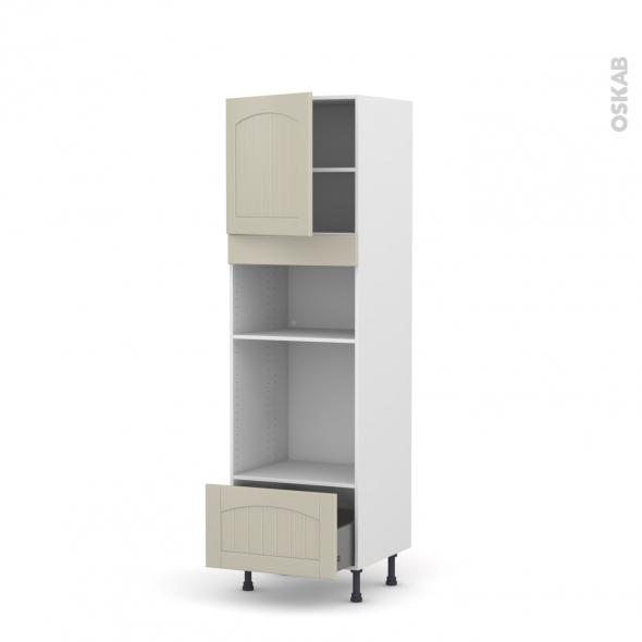 SILEN Argile - Colonne Four+MO 36/38 N°1610  - 1 porte 1 tiroir - L60xH195xP58 - gauche