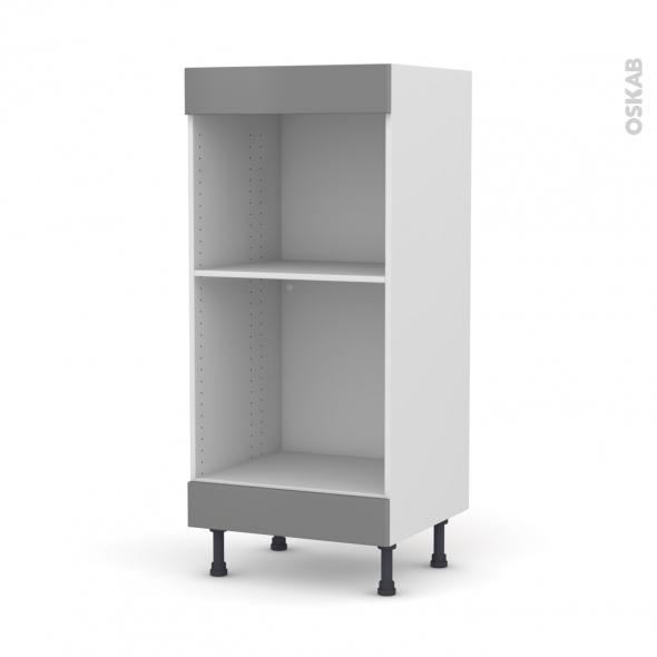 Colonne de cuisine N°3 - Four+MO encastrable niche 45 - FILIPEN Gris - L60 x H125 x P58 cm