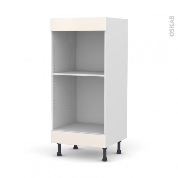 Colonne de cuisine N°3 - Four+MO encastrable niche 45 - FILIPEN Ivoire - L60 x H125 x P58 cm