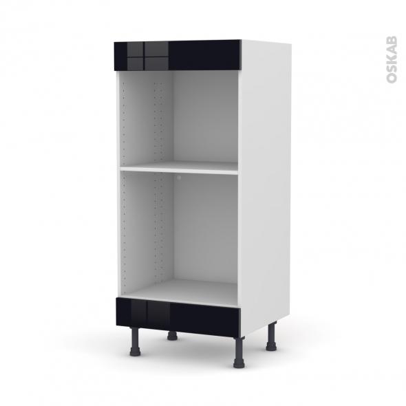 Colonne de cuisine N°3 - Four+MO encastrable niche 45 - KERIA Noir - L60 x H125 x P58 cm