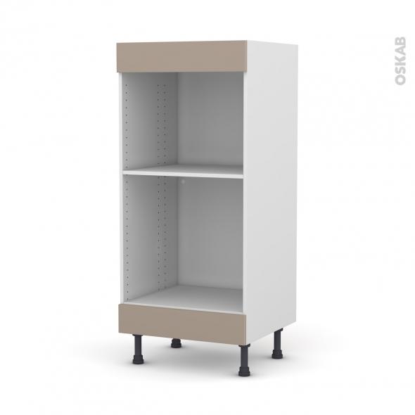 Colonne de cuisine N°3 - Four+MO encastrable niche 45 - GINKO Taupe -  - L60 x H125 x P58 cm
