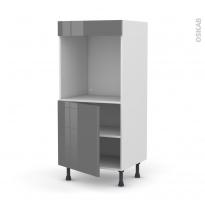 Colonne de cuisine N°16 - Four encastrable niche 60 - STECIA Gris - 1 porte - L60 x H125 x P58 cm