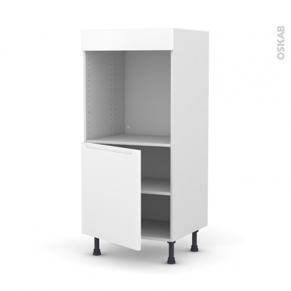 Colonne de cuisine N°16 - Four encastrable niche 60 - PIMA Blanc - 1 porte - L60 x H125 x P58 cm