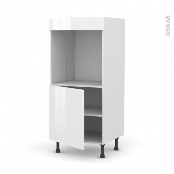 STECIA Blanc - Colonne Four N°16  - 1 porte - L60xH125xP58