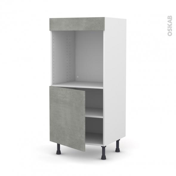 Colonne de cuisine N°16 - Four encastrable niche 60 - FAKTO Béton - 1 porte - L60 x H125 x P58 cm