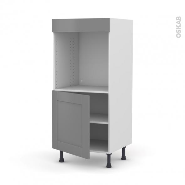 Colonne de cuisine N°16 - Four encastrable niche 60 - FILIPEN Gris - 1 porte - L60 x H125 x P58 cm