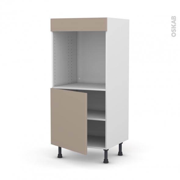Colonne de cuisine N°16 - Four encastrable niche 60 - GINKO Taupe - 1 porte - L60 x H125 x P58 cm
