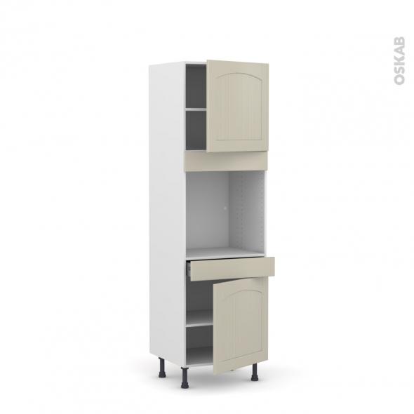 SILEN Argile - Colonne Four N°1616  - 2 portes 1 tiroir - L60xH195xP58 - droite