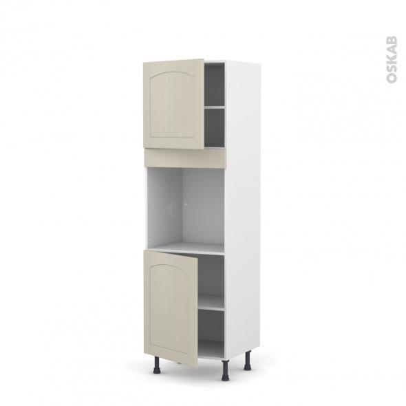 SILEN Argile - Colonne Four N°1621  - 2 portes - L60xH195xP58 - droite