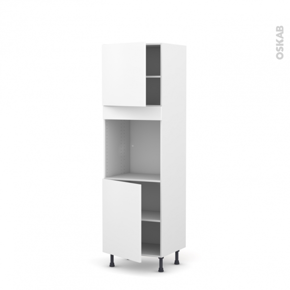 GINKO Blanc - Colonne Four N°1621  - 2 portes - L60xH195xP58
