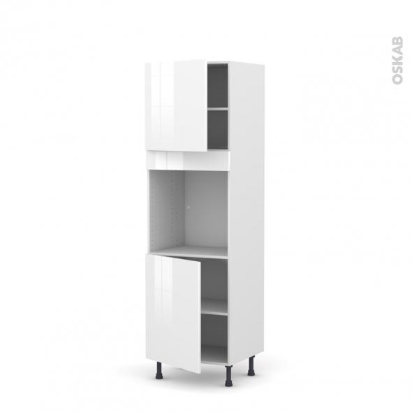 STECIA Blanc - Colonne Four N°1621  - 2 portes - L60xH195xP58