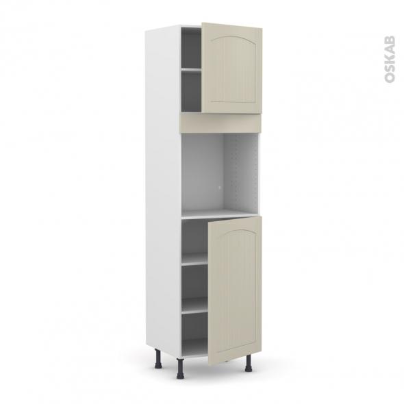 SILEN Argile - Colonne Four N°1624  - 2 portes - L60xH217xP58 - droite