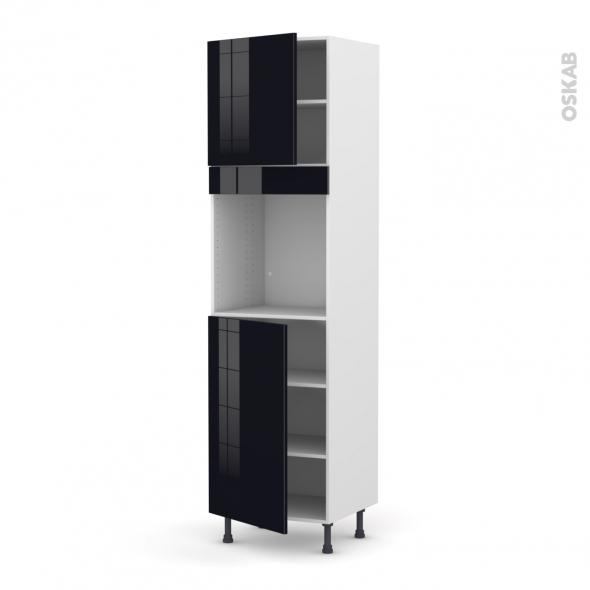 KERIA Noir - Colonne Four N°1624  - 2 portes - L60xH217xP58