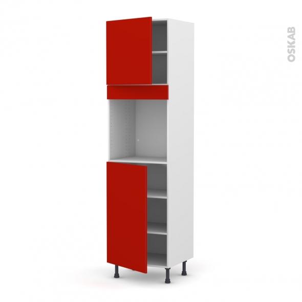 GINKO Rouge - Colonne Four N°1624  - 2 portes - L60xH217xP58