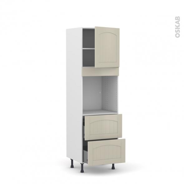SILEN Argile - Colonne Four N°1657  - 1 porte 2 casseroliers - L60xH195xP58 - droite