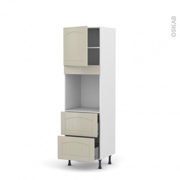 SILEN Argile - Colonne Four N°1657  - 1 porte 2 casseroliers - L60xH195xP58 - gauche