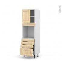 BETULA Bouleau - Colonne Four N°1659  - 1 porte 4 tiroirs - L60xH195xP58