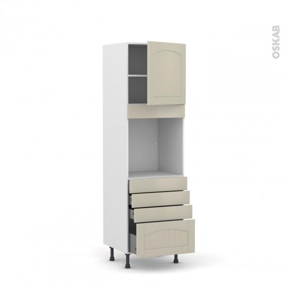 SILEN Argile - Colonne Four N°1659  - 1 porte 4 tiroirs - L60xH195xP58 - droite
