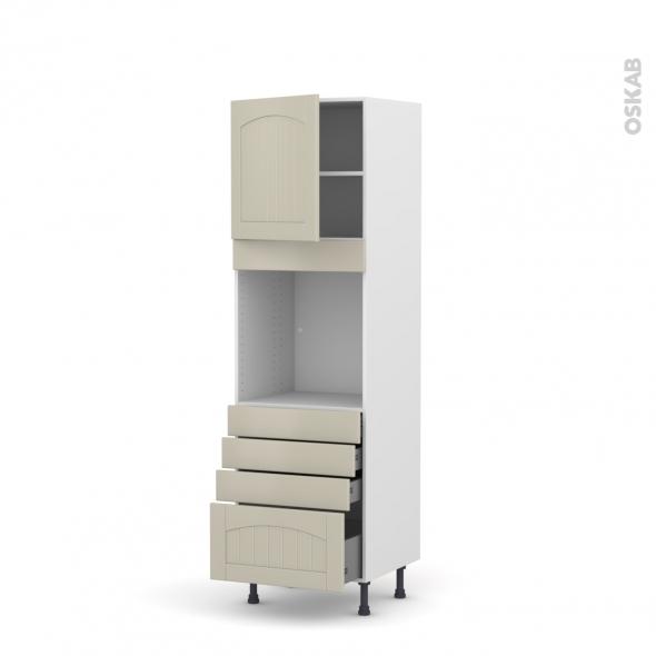 SILEN Argile - Colonne Four N°1659  - 1 porte 4 tiroirs - L60xH195xP58 - gauche