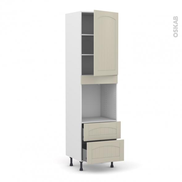 SILEN Argile - Colonne Four N°2458  - 1 porte 2 casseroliers - L60xH217xP58 - droite