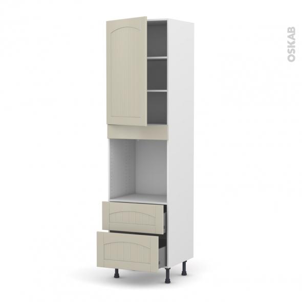SILEN Argile - Colonne Four N°2458  - 1 porte 2 casseroliers - L60xH217xP58 - gauche