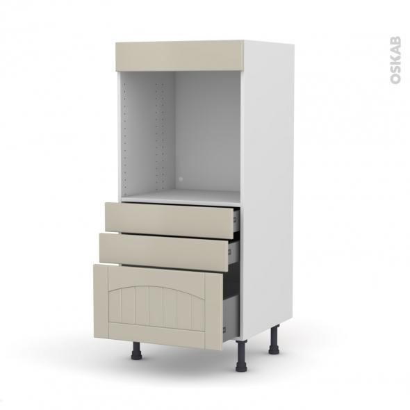 SILEN Argile - Colonne Four N°59  - 3 tiroirs - L60xH125xP58