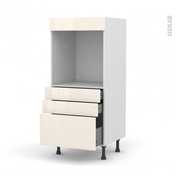 KERIA Ivoire - Colonne Four N°59  - 3 tiroirs - L60xH125xP58