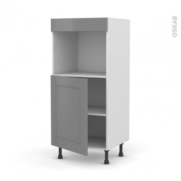 Colonne de cuisine N°21 - Four encastrable niche 45  - FILIPEN Gris - 1 porte - L60 x H125 x P58 cm