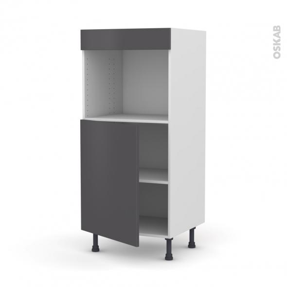 Colonne de cuisine N°21 - Four encastrable niche 45  - GINKO Gris - 1 porte - L60 x H125 x P58 cm