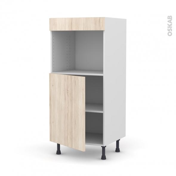 IKORO Chêne clair - Colonne Four niche 45 N°21  - 1 porte - L60xH125xP58