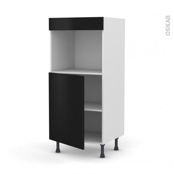 Colonne de cuisine N°21 - Four encastrable niche 45  - GINKO Noir - 1 porte - L60 x H125 x P58 cm