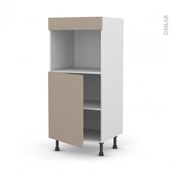 Colonne de cuisine N°21 - Four encastrable niche 45 - GINKO Taupe - 1 porte - L60 x H125 x P58 cm