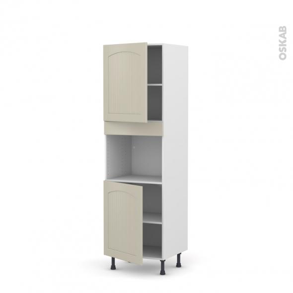 SILEN Argile - Colonne Four niche 45 N°2121  - 2 portes - L60xH195xP58 - gauche
