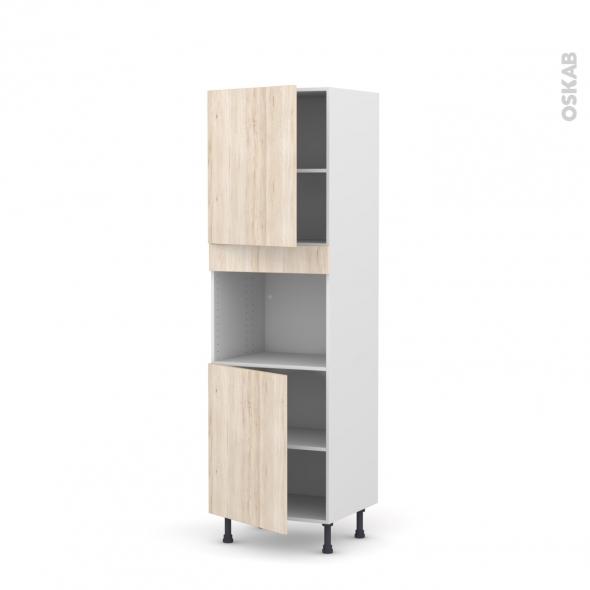 IKORO Chêne clair - Colonne Four niche 45 N°2121  - 2 portes - L60xH195xP58