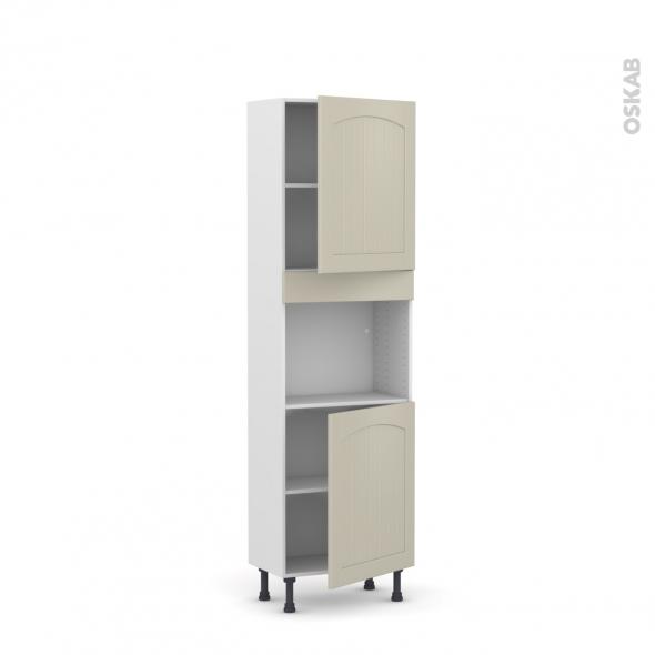SILEN Argile - Colonne Four niche 45 N°2121  - Prof.37  2 portes - L60xH195xP37 - droite
