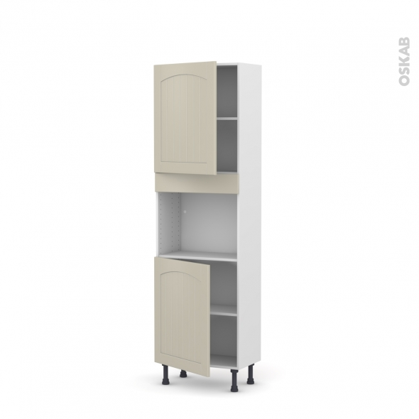 SILEN Argile - Colonne Four niche 45 N°2121  - Prof.37  2 portes - L60xH195xP37 - gauche