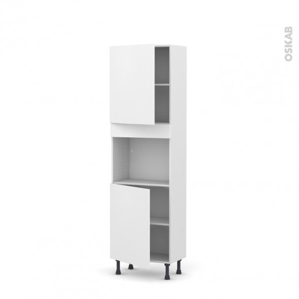 GINKO Blanc - Colonne Four niche 45 N°2121  - Prof.37  2 portes - L60xH195xP37