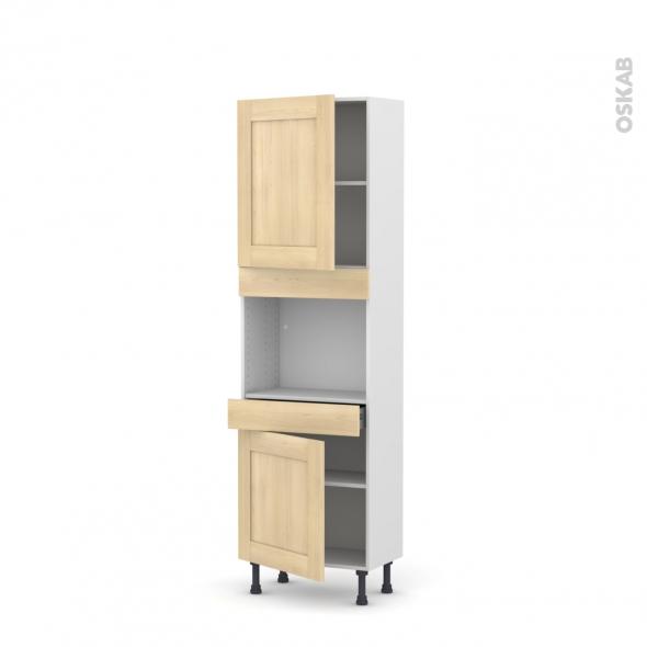 BETULA Bouleau - Colonne Four niche 45 N°2156  - Prof.37  2 portes 1 tiroir - L60xH195xP37