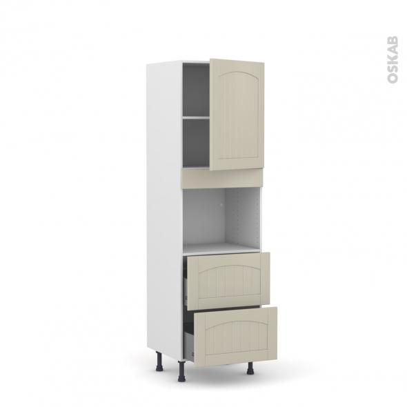 SILEN Argile - Colonne Four niche 45 N°2157  - 1 porte 2 casseroliers - L60xH195xP58 - droite
