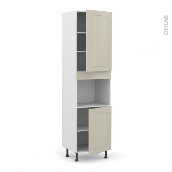 SILEN Argile - Colonne Four niche 45 N°2421  - 2 portes - L60xH217xP58 - droite