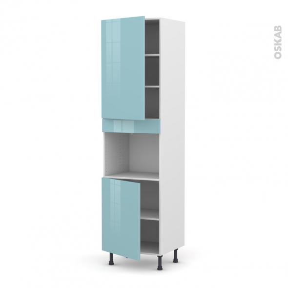 KERIA Bleu - Colonne Four niche 45 N°2421  - 2 portes - L60xH217xP58