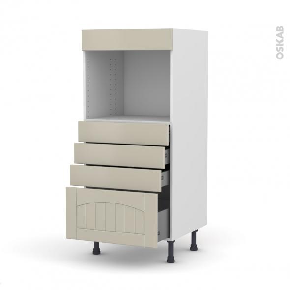 SILEN Argile - Colonne Four niche 45 N°59  - 4 tiroirs - L60xH125xP58