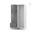 STECIA Gris - Colonne Lave vaisselle - Full Intégrable - L60xH195xP58