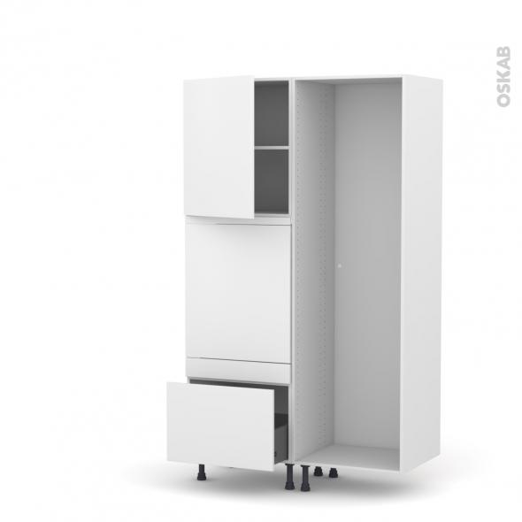 GINKO Blanc - Colonne Lave vaisselle - Full Intégrable - L60xH195xP58