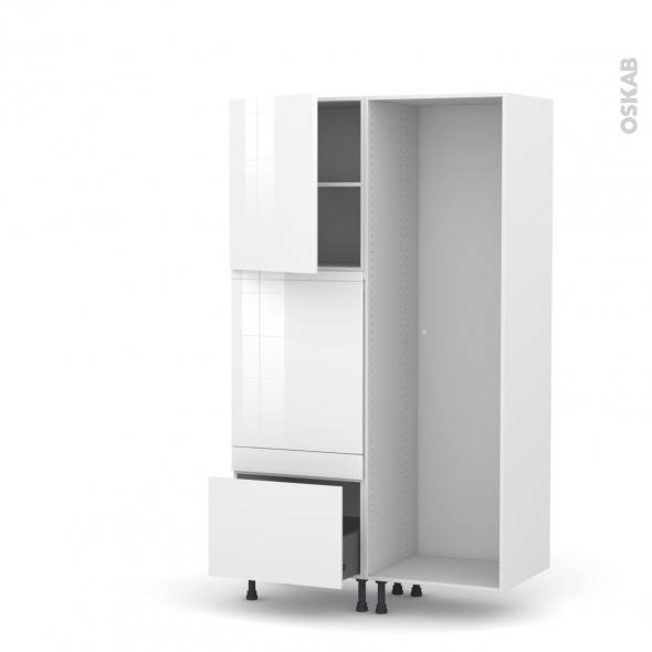 Colonne de cuisine - Lave vaisselle full intégrable - STECIA Blanc - L60 x H195 x P58 cm