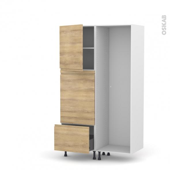 IPOMA Chêne Naturel - Colonne Lave vaisselle - Full Intégrable - L60xH195xP58
