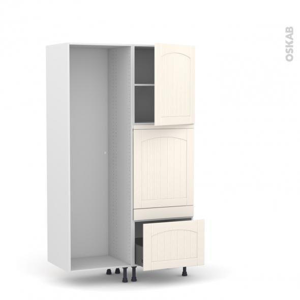 SILEN Ivoire - Colonne Lave vaisselle - Full Intégrable - L60xH195xP58 - droite