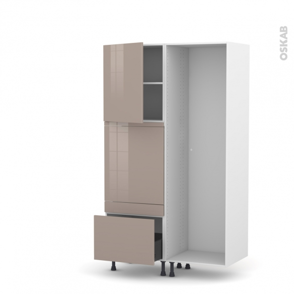 KERIA Moka - Colonne Lave vaisselle - Full Intégrable - L60xH195xP58