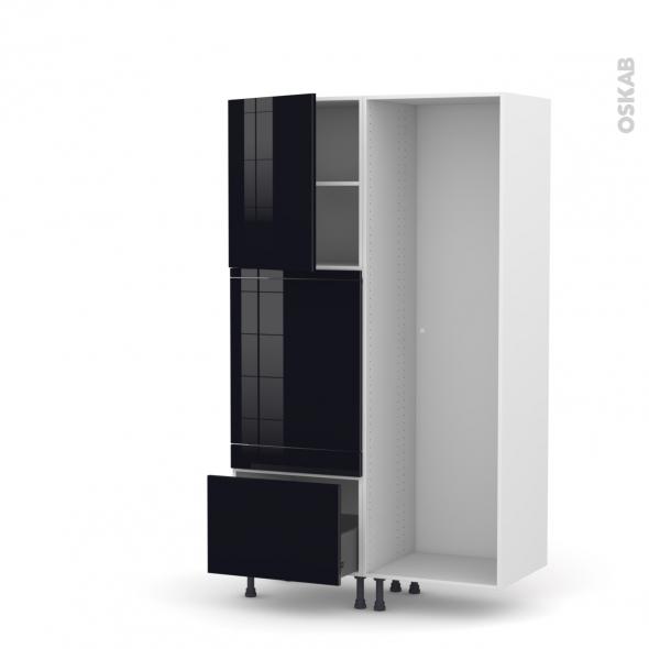 KERIA Noir - Colonne Lave vaisselle - Full Intégrable - L60xH195xP58